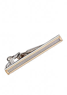 Saddlebred Gold with Rhodium Mesh Boxed Tie Bar