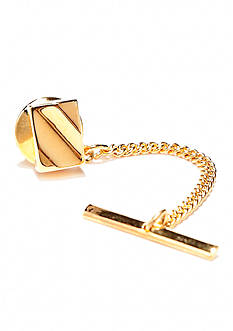Saddlebred Gold Rectangle Curve Tie Tack