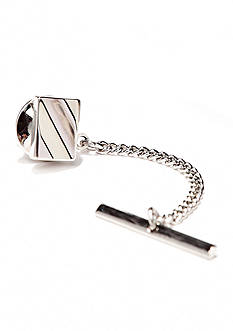 Saddlebred Silver Rectangle Curve Tie Tack