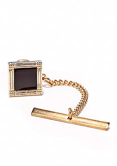 Saddlebred Gold/Onyx Square Tie Tack