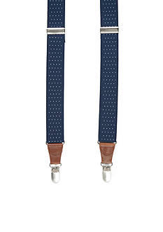 Saddlebred Big & Tall Pin Dot Stretch Clip Suspenders