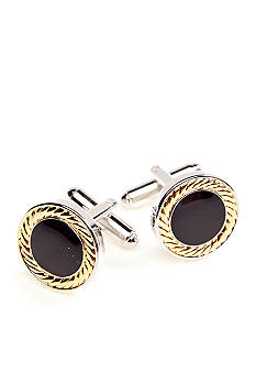 Saddlebred® Polished 14 Kt. Gold Cufflinks