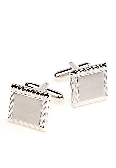 Saddlebred Square Etched Edge Cufflink