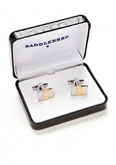 Saddlebred Gold Center Rectangle Cufflinks
