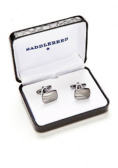 Saddlebred Gunmetal Diagonal Line Cufflinks