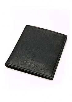 Saddlebred Vintage Black Leather Organizer Wallet