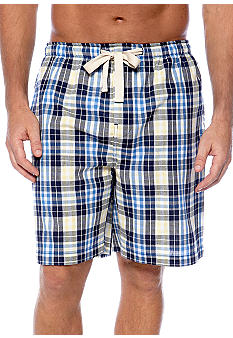 Izod Plaid Woven Sleep Short
