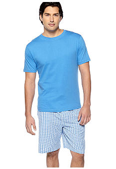 Izod Gingham PJ Short Set