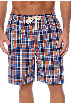 Izod Plaid Woven Sleep Shorts