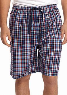 IZOD Plaid Woven Lounge Shorts