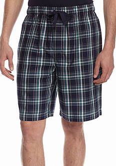 IZOD Plaid Woven Lounge Shorts