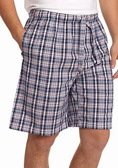 IZOD Plaid Chambray Woven Lounge Shorts