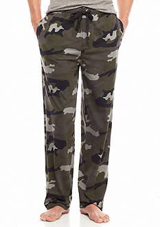 IZOD Camo Printed Knit Lounge Pants