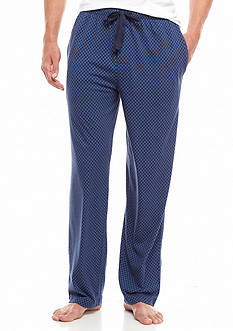 IZOD Diamond Printed Knit Lounge Pants