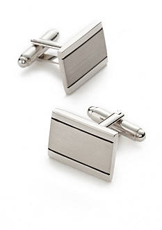 Saddlebred Shiny Brushed Rhodium Cufflinks