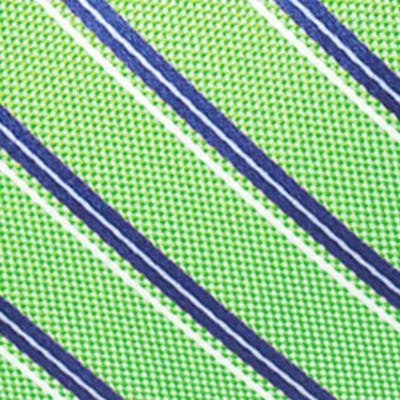 Young Mens Neckties: Green Saddlebred Valencia Oxford Stripe Tie
