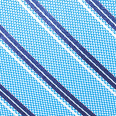 Young Mens Neckties: Medium Blue Saddlebred Valencia Oxford Stripe Tie