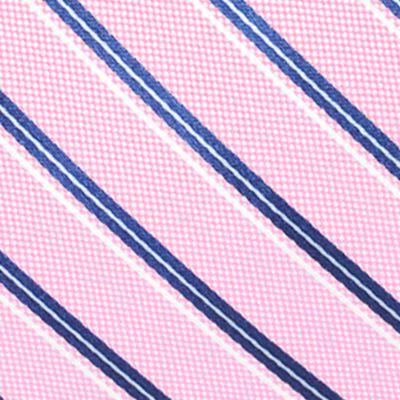 Men: Neckties Sale: Pink Saddlebred Valencia Oxford Stripe Tie