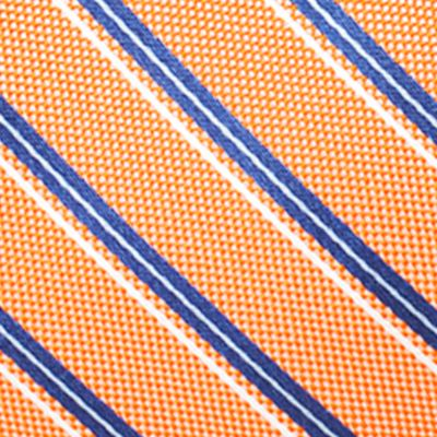 Young Mens Neckties: Orange Saddlebred Valencia Oxford Stripe Tie