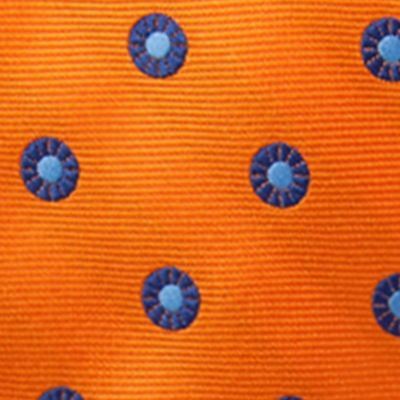 Young Men: Saddlebred Accessories: Orange Saddlebred Men's Saco Neat Tie
