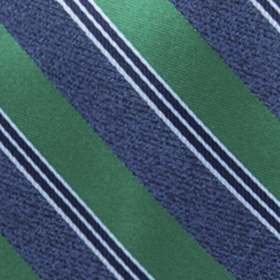Young Men: Saddlebred Accessories: Green Saddlebred Men's Saffell Stripe Tie
