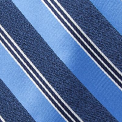 Men: Neckties Sale: Blue Saddlebred Men's Saffell Stripe Tie
