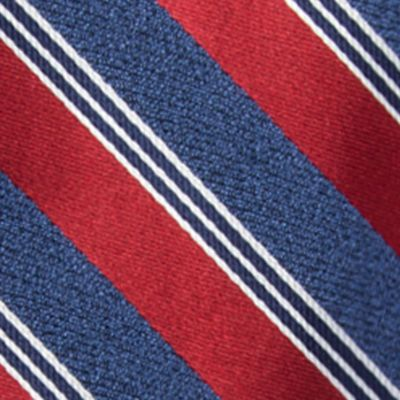 Young Men: Saddlebred Accessories: Red Saddlebred Men's Saffell Stripe Tie