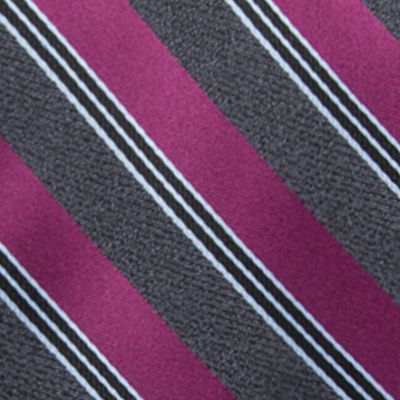 Young Men: Saddlebred Accessories: Pink Saddlebred Men's Saffell Stripe Tie