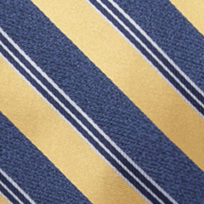 Young Men: Saddlebred Accessories: Yellow Saddlebred Men's Saffell Stripe Tie