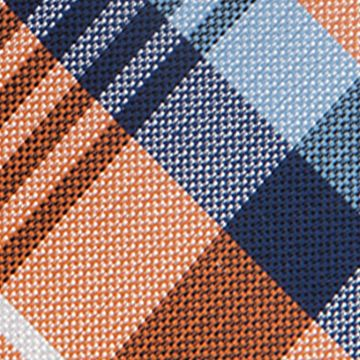 Necktie: Orange Saddlebred Nardin Big Plaid Tie