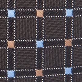 Young Men: Saddlebred Accessories: Black Saddlebred Neat Grid Tie