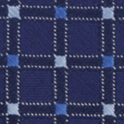Young Men: Saddlebred Accessories: Navy Saddlebred Neat Grid Tie