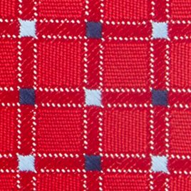 Men: Regular Sale: Red Saddlebred Neat Grid Tie