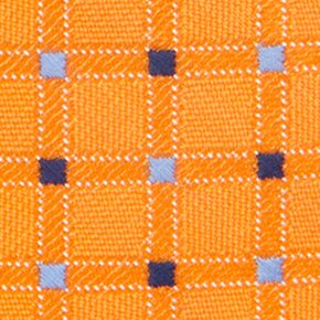 Young Men: Saddlebred Accessories: Orange Saddlebred Neat Grid Tie