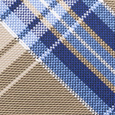 Necktie: Taupe Saddlebred® Basel Plaid Tie
