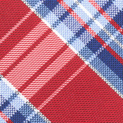 Necktie: Red Saddlebred® Basel Plaid Tie