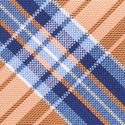 Necktie: Orange Saddlebred® Basel Plaid Tie