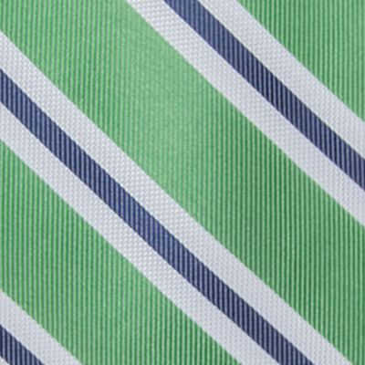 Saddlebred: Lime Saddlebred Extra Long Austin Stripe Tie