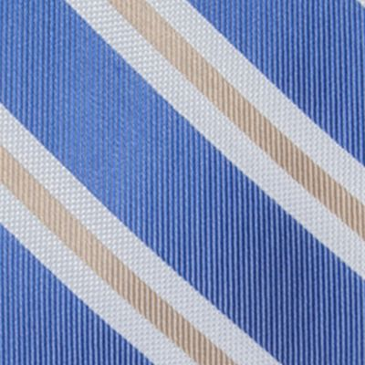 Big and Tall Ties: Light Blue Saddlebred Extra Long Austin Stripe Tie