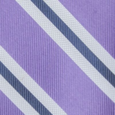 Big and Tall Ties: Lilac Saddlebred Extra Long Austin Stripe Tie