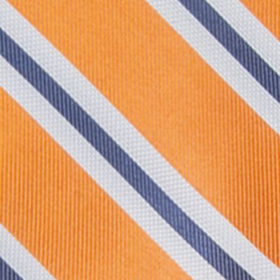 Big & Tall: Ties Sale: Canteloupe Saddlebred Extra Long Austin Stripe Tie