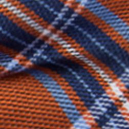 Young Men: Saddlebred Accessories: Orange Saddlebred Men's Self-Tie Winslow Plaid Bow Tie