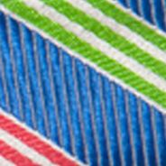 Young Men: Saddlebred Ties: Medium Blue Saddlebred Ess Omaha Stripe Pre-tied Bow Tie