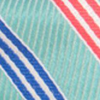 Young Men: Saddlebred Ties: Aqua Saddlebred Ess Omaha Stripe Pre-tied Bow Tie