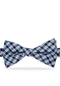 Saddlebred Essential Saratoga Gingham Pre-tied Bow Tie