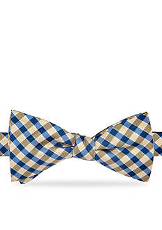 Saddlebred Essential Saratoga Gingham Pre-tied Bow Tie