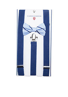 Saddlebred Inshore Stripe Bow Tie & Suspender Set