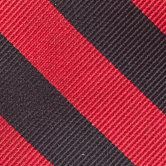 Men: Neckties Sale: Black/Red Saddlebred College Rubgy Stripe Tie