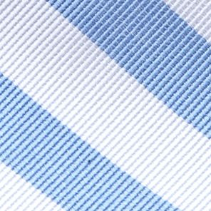 Men: Neckties Sale: Blue/White Saddlebred College Rubgy Stripe Tie