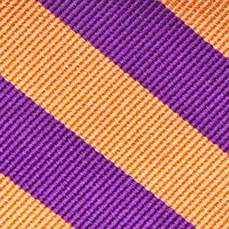 Men: Neckties Sale: New Orange Saddlebred College Rubgy Stripe Tie